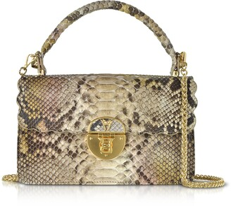 Ghibli Python Leather Top Handle Satchel bag