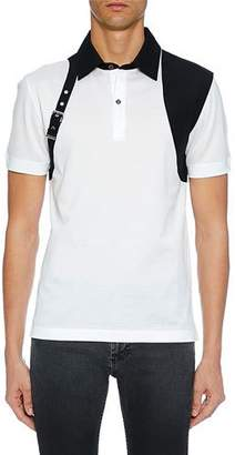 Alexander McQueen Men's Short Sleeve Shirt with Shoulder Belt