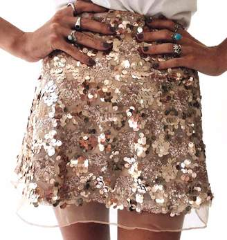 Mfasica Womens Sexy Clubwear Metallic Shimmer Shaping Mini Skirt XS