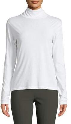 Vince Long-Sleeve Cotton Turtleneck Sweater