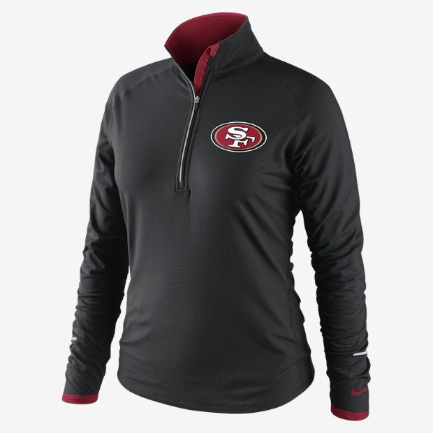 Nike Conversion Half-Zip (NFL 49ers) Women's Running Top