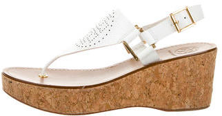 Tory BurchTory Burch Leather Wedge Sandals