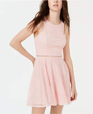 8dff7858fe City Studios Lace Fit And Flare Dress Juniors - ShopStyle
