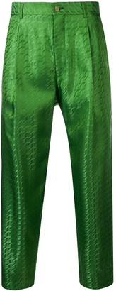 Comme des Garcons cropped printed trousers
