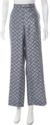 Armani Collezioni Wide-Leg Brocade Pants