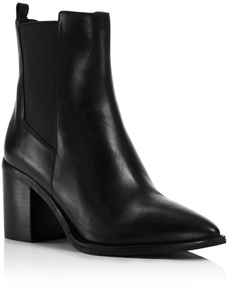Kenneth Cole Quinley Pointed Toe Block Heel Booties $225 thestylecure.com