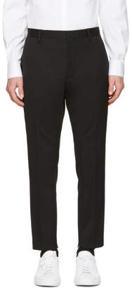 DSQUARED2 Black Wool Evening Trousers