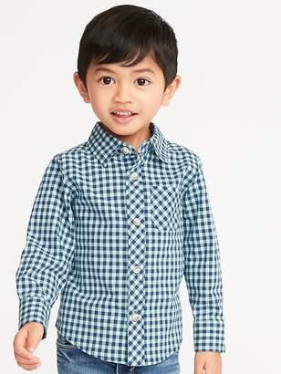 Old Navy Built-In Flex Patterned Shirt for Toddler Boys