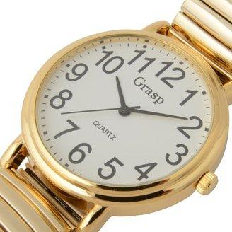 111b5c3650 R&K 文字盤直径4センチ メタルベルト サイズ調節不要 便利でみやすいらくらく腕時計