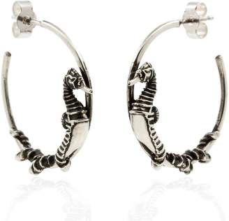 "Lee Renee Seahorse Hoop Earrings "" Silver"