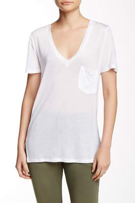 C & C California Violet V-Neck Short Sleeve Tee $56 thestylecure.com