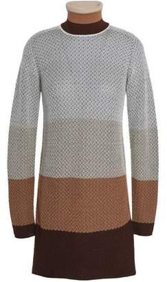 Missoni Color-Block Wool-Blend Jacquard Turtleneck Sweater