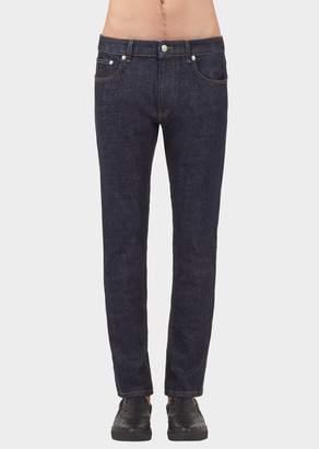 Versace Safety Pin Dark Denim Jeans