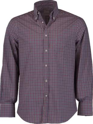 Brunello Cucinelli Button Down Plaid Shirt