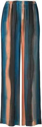 Raquel Allegra striped wide-legged trousers