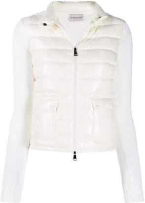 Moncler wool detailed padded jacket