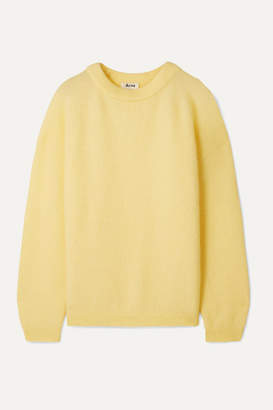 Acne Studios Dramatic Knitted Sweater - Pastel yellow