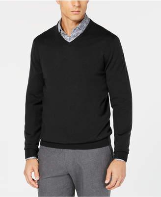 Tasso Elba Men's Merino Wool V-Neck Sweater