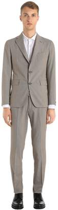 Tagliatore Cotton Micro Houndstooth Suit