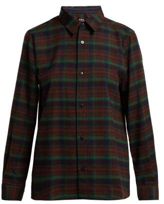 A.P.C. Mireille Flannel Shirt - Womens - Green Multi