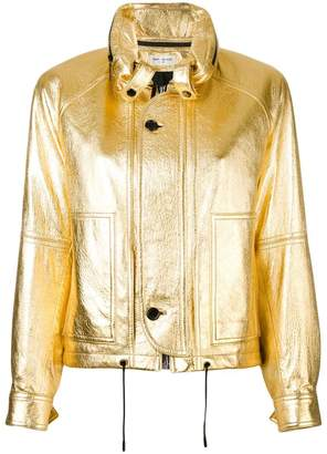 Saint Laurent metallic slouchy-fit jacket