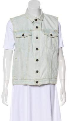 Proenza Schouler Denim Button-Up Vest