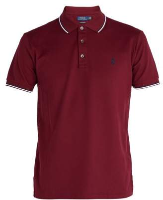 Polo Ralph Lauren Custom Slim Fit Cotton PiquA Polo Shirt - Mens - Burgundy