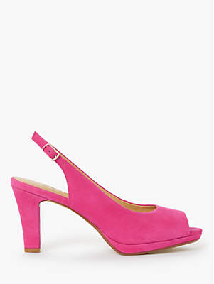 aa2be3e8e9a John Lewis   Partners Cora Stiletto Block Heel Peep Toe Slingback Sandals