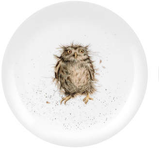 """Royal Worcester Wrendale Owl Plate """"What a Hoot"""" - Set of 4"""