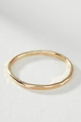 Pixley Pressed Hammered Gold Stacking Ring