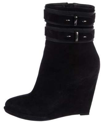 Givenchy Suede Wedge Boots
