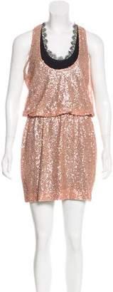 Robert Rodriguez Silk Embellished Dress w/ Tags