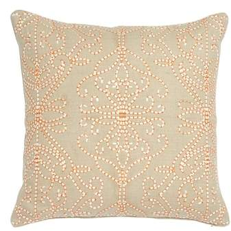 Amazilia Embroidered Accent Pillow