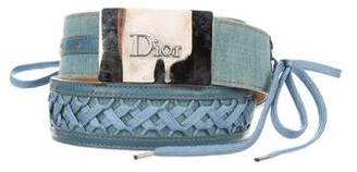 Christian Dior Denim Logo Belt