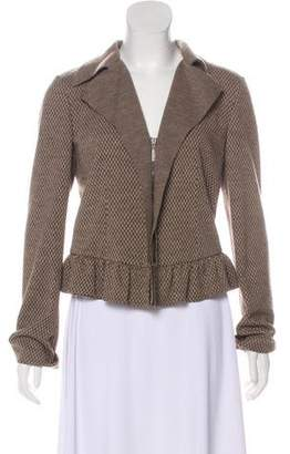 Giorgio Armani Wool Plaid Jacket