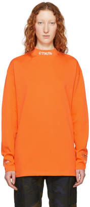 Heron Preston Orange Long Sleeve KK Style T-Shirt