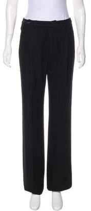 Saint Laurent High-Rise Wide-Leg Pants w/ Tags