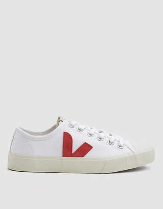 Veja Wata Canvas Sneaker in White Pekin