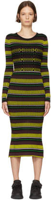 Opening Ceremony Black Striped Knit Dress