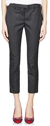 Prada Women's Worsted Wool Crop Trousers - Gray