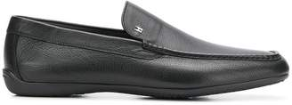 Moreschi logo plaque loafers