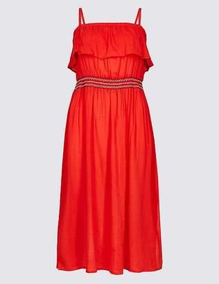Marks and Spencer Cotton Rich Bardot Beach Dress