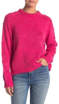 John & Jenn Heart Stitch Crew Neck Sweater