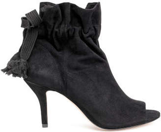 H&M Suede Ankle Boots - Black