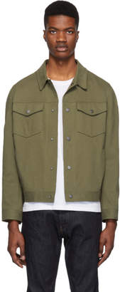 Harris Wharf London Green Overshirt Jacket