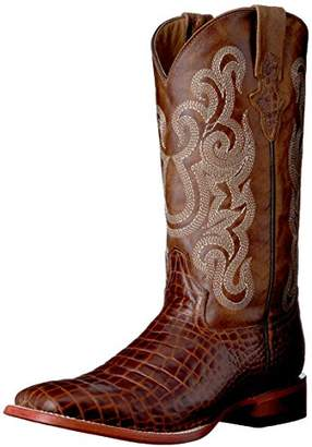 Ferrini Men's Print Belly Caiman Square Toe Western Boot