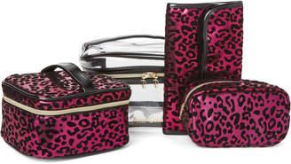 Juicy Couture 4-Piece Pink Leopard Travel Set