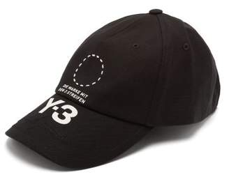 Y-3 Street Cotton Blend Cap - Mens - Black