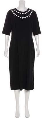 Altuzarra Short Sleeve Midi Dress Black Short Sleeve Midi Dress