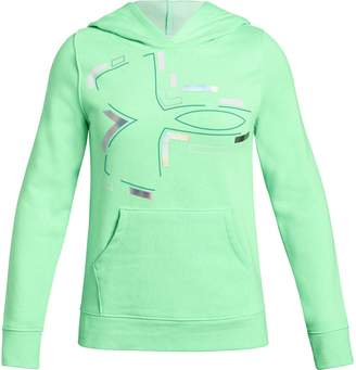 Under Armour Girls 7-16 Rival Deconstructed Logo Hoodie